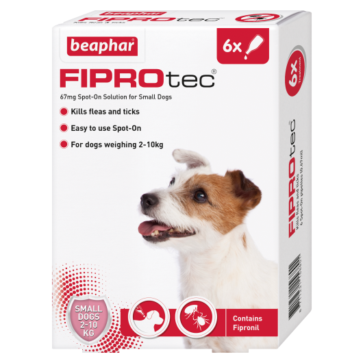 Fiprotec Spot On Small Dog Pipette - 6 Treatments
