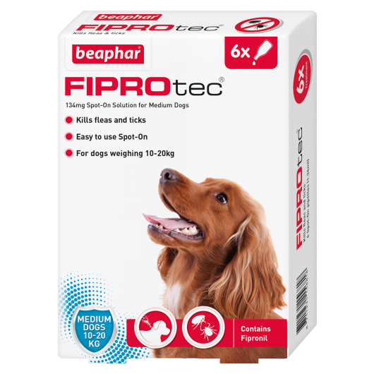 Fiprotec Spot On Medium Dog Pipette - 6 Treatments