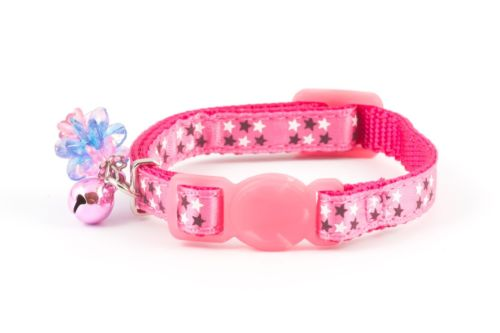Ancol Safety Buckle Kitten Collar Luxury Jewel Pink