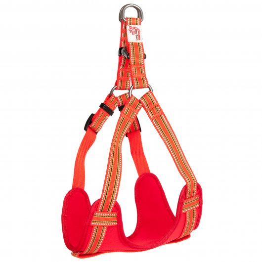 Long Paws Comfort Collection Harness Orange  2 sizes available