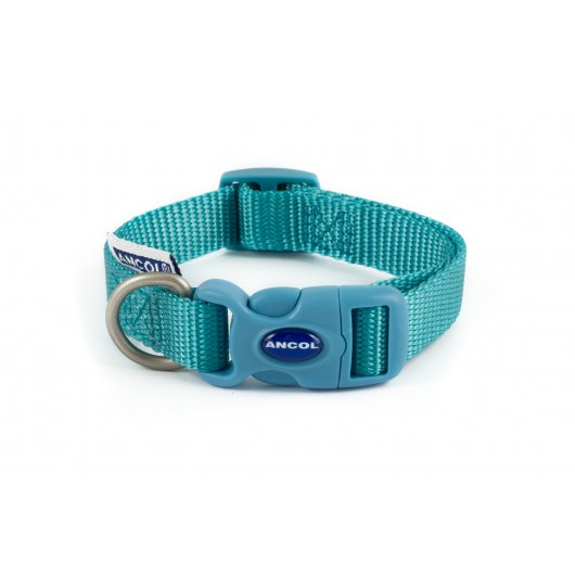 Heritage Nylon Adjustable Collar Teal  3 sizes available
