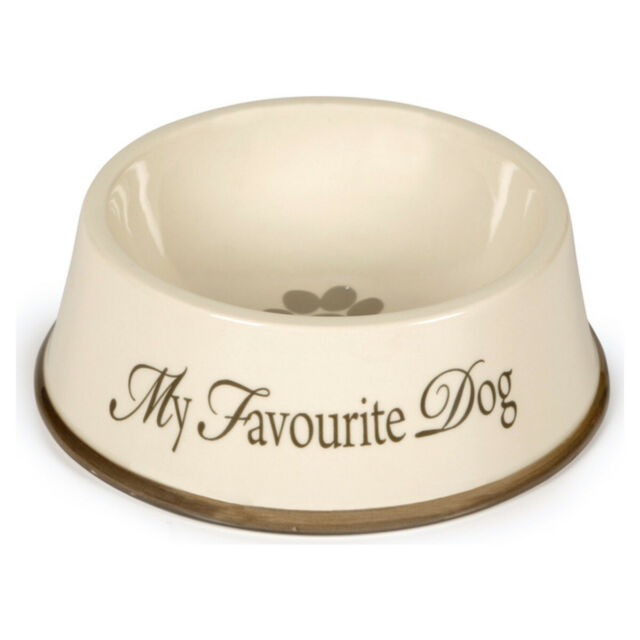 Designed by Lotte My Favourite Dog Ceramic Bowl Beige/Grey 15cm