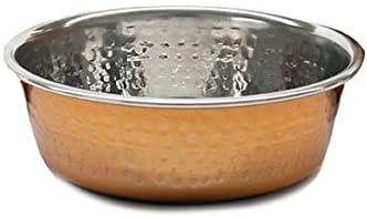 Rosewood Modern Copper Non Slip Stainless Steel Dog, 1900 ml, Large