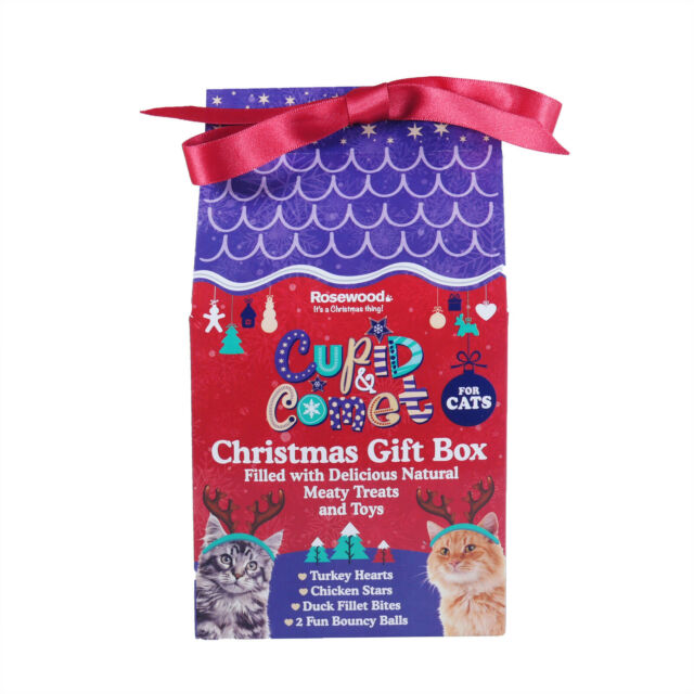 Cupid & Comet's Christmas Gift Box for Cats