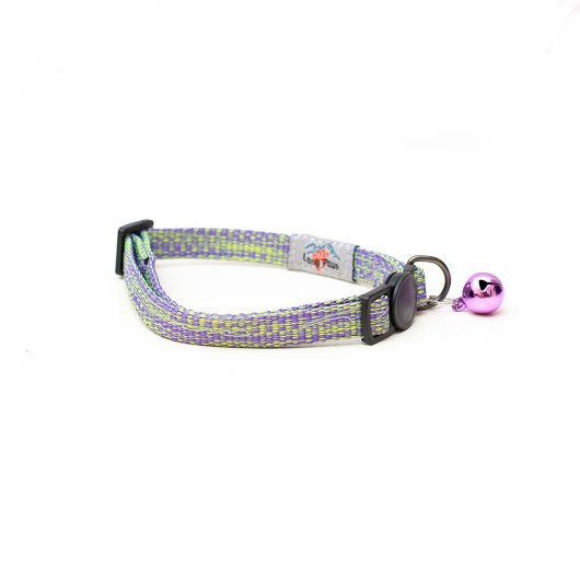 Long Paws Tom & Tabby Reflective Cat Collar Ice Purple