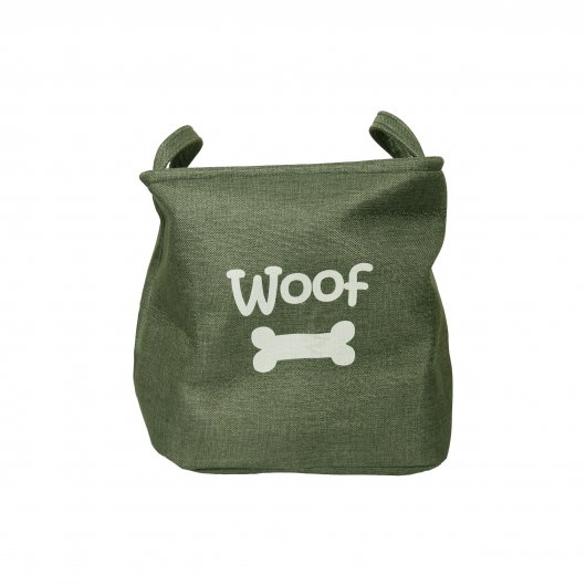 Rosewood Canvas Pet Toy Basket Forest 33x27cm
