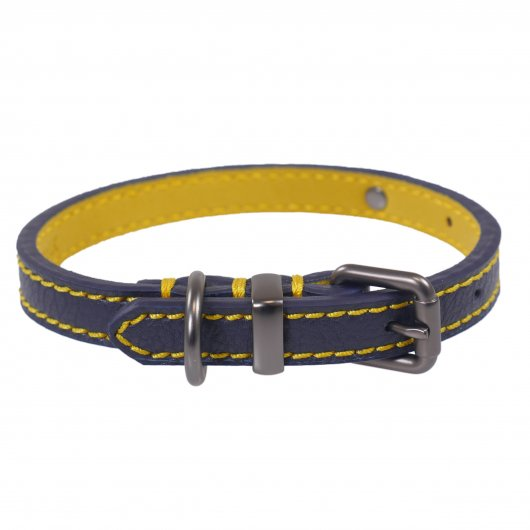 Joules For Dapper Dogs Navy Leather Dog Collar - 3 sizes availble