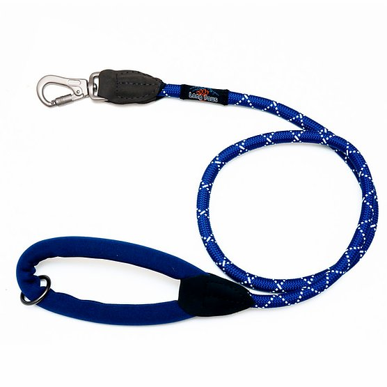Long Paws Comfort Collection Rope Lead Navy 2 sizes available